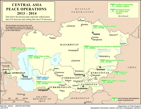 Map Of Asia 1930.Central Asia Global Peace Operations Review