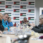 20 Jan 2016 - General Assembly President Mogens Lykketoft (right) spoke with Syrian refugees when he visited the Zaatari Refugee Camp on the border during a visit to Jordan in January 2016.