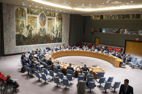 Security Council debates post-conflict peacebuilding, Feb 2016. © UN